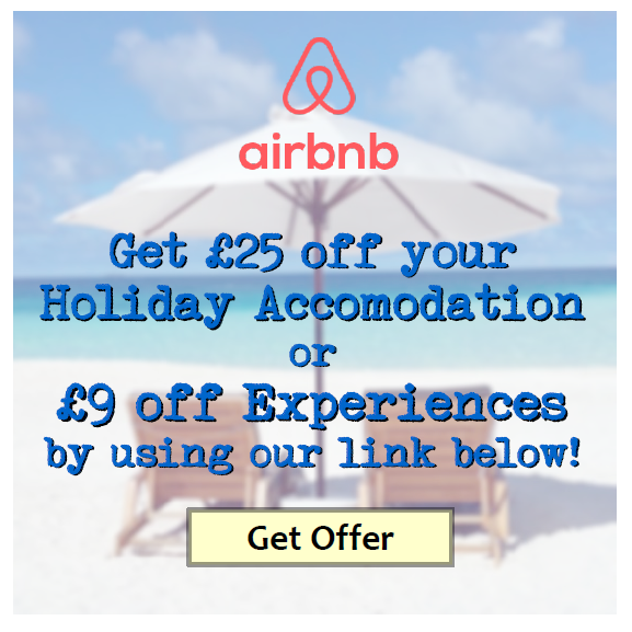 airbnb promotion 25 pounds off using our link
